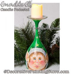 Emerelda Elf Candle Pedestal Pattern BY MAIL - Sharon Chinn