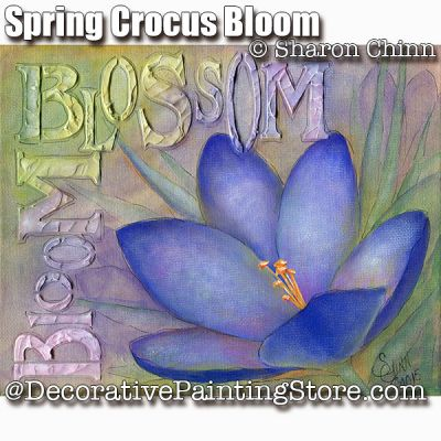 Spring Crocus Bloom ePattern - Sharon Chinn