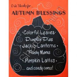 Autumn Blessings Sign ePattern by Sharon Chinn