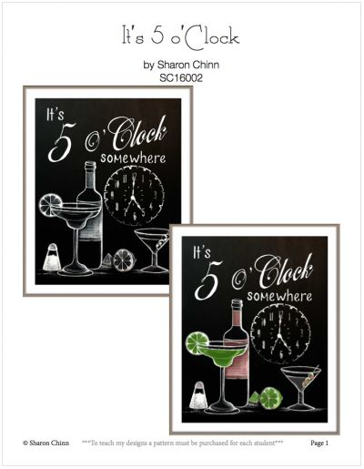 Its 5 OClock Pattern by Sharon Chinn - BY MAIL