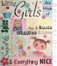 Little Girls Are Made of Pattern-Sharon Chinn - BY MAIL