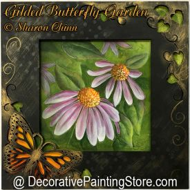 Gilded Butterfly Garden Painting Pattern BY MAIL - Sharon Chinn