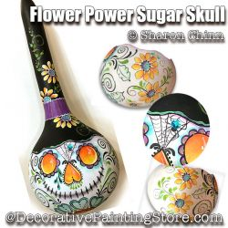 Flower Power Sugar Skull ePattern by Sharon Chinn - BY DOWNLOAD