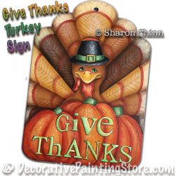 Give Thanks Painting Pattern BY MAIL by Sharon Chinn