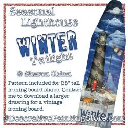 Seasonal Lighthouse-Winter Twilight  Painting Pattern BY MAIL by Sharon Chinn