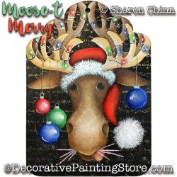 Moose-t Merry Painting Pattern BY MAIL-Sharon Chinn