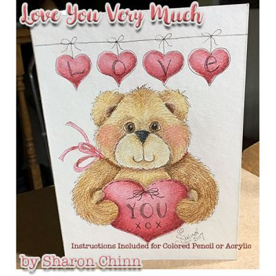 Love You Beary Much (Pencil or Acrylic) ePattern by Sharon Chinn - BY DOWNLOAD