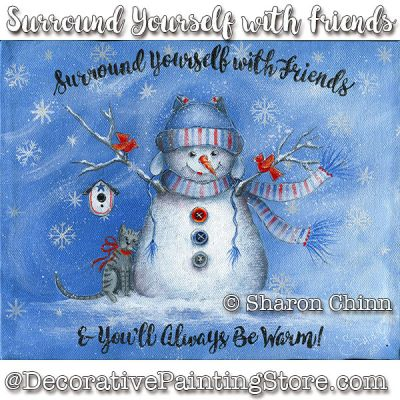 Surround Yourself with Friends Painting Pattern BY MAIL - Sharon Chinn