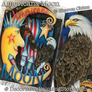 Americana Moon Banner DOWNLOAD - Sharon Chinn