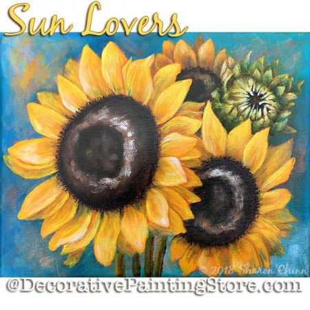 Sun Lovers Sunflowers Booklet by Mail - Sharon Chinn
