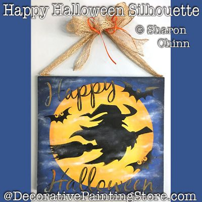 Happy Halloween Silhouette Sign DOWNLOAD - Sharon Chinn