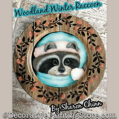 Woodland Winter Raccoon Booklet By Mail - Sharon Chinn