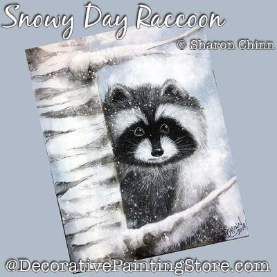 Snowy Day Raccoon DOWNLOAD - Sharon Chinn
