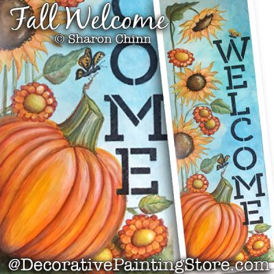 Fall Welcome Sign DOWNLOAD Painting Pattern - Sharon Chinn