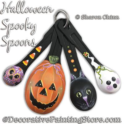 Halloween Spooky Spoons DOWNLOAD Painting Pattern - Sharon Chinn