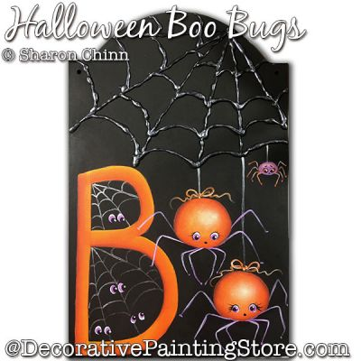 Halloween Boo Bugs Painting Pattern BY MAIL - Sharon Chinn