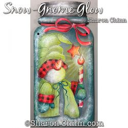 Sno-Gnome Glow Mason Jar Painting Pattern BY MAIL - Sharon Chinn