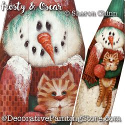 Frosty & Oscar Ironing Board Painting Pattern By Mail - Sharon Chinn