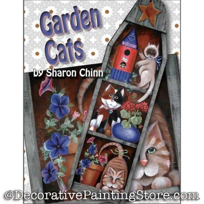 Garden Cats Ironing Board BY MAIL- Sharon Chinn