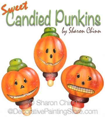 Sweet Candied Pumpkins ePattern by Sharon Chinn