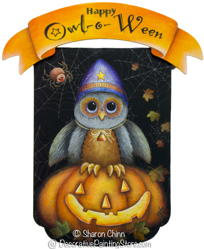 Happy Owl o Ween Sign Pattern BY DOWNLOAD