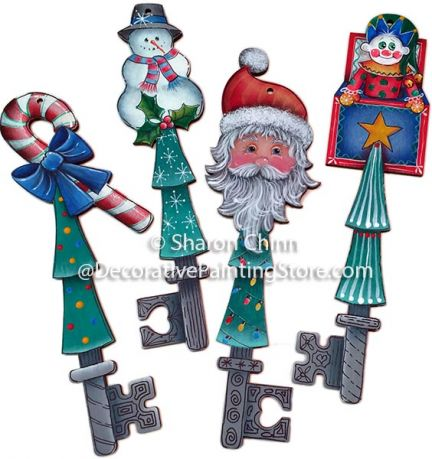 Christmas Joys Key Ornaments Pattern BY DOWNLOAD
