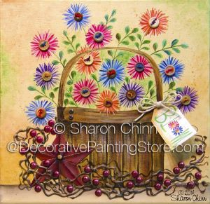 Button Bloom Basket (Mixed Media) Pattern by Sharon Chinn BY DOWNLOAD