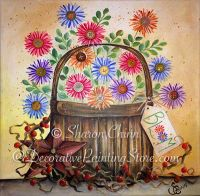 Button Bloom Basket (Traditional Painted) Pattern by Sharon Chinn BY DOWNLOAD