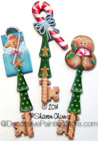 Peppermint and Ginger Key Ornaments Pattern - Sharon Chinn - BY MAIL