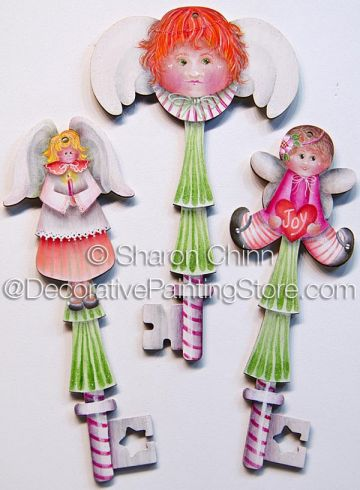 Angel Keys to Heaven Ornaments Pattern - Sharon Chinn - PDF DOWNLOAD