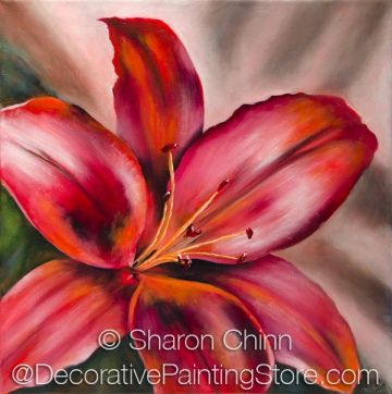 My Red Lily Pattern by Sharon Chinn - PDF DOWNLOAD