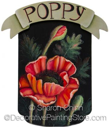Red Poppy Pattern by Sharon Chinn - BY MAIL