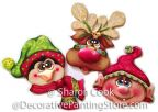 Oh Christmas Trio Ornaments Pattern - Sharon Cook - PDF DOWNLOAD