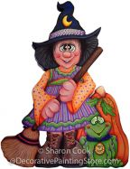 Bashful Belinda Witch Pattern - Sharon Cook - PDF DOWNLOAD