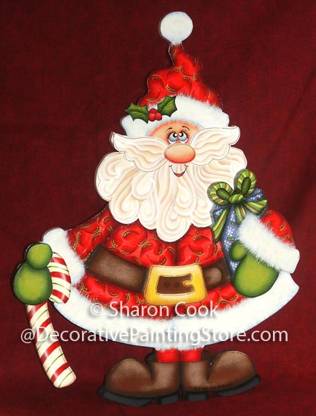 Paisley Print Santa Pattern - Sharon Cook - PDF DOWNLOAD