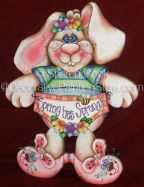Spring Has Sprung Bunny Pattern - Sharon Cook - PDF DOWNLOAD
