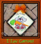 I Luv Carrots Pattern - Sharon Cook - PDF DOWNLOAD