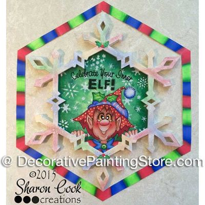 Celebrate Your Inner Elf Ornament - Sharon Cook - PDF DOWNLOAD