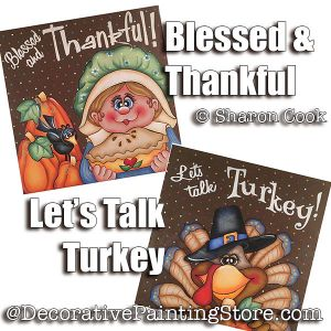 Two Thanksgiving Canvas ePattern - Sharon Cook - PDF DOWNLOAD