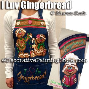 I Luv Gingerbread Apron and Mitt  ePattern - Sharon Cook - PDF DOWNLOAD