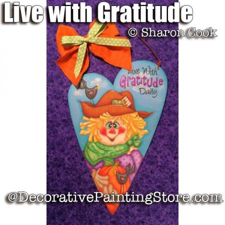 Live with Gratitude Daily ePattern - Sharon Cook - PDF DOWNLOAD