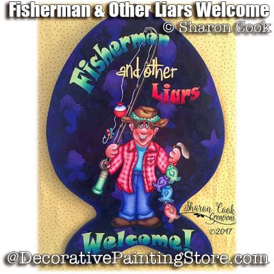 Fishermen and Other Liars Welcome ePattern - Sharon Cook - PDF DOWNLOAD