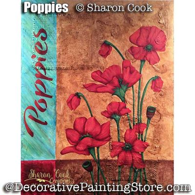 Poppies ePattern - Sharon Cook - PDF DOWNLOAD