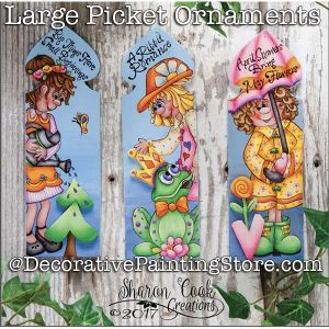 Large Picket Ornaments DOWNLOAD - Sharon Cook