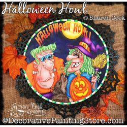 Halloween Howl DOWNLOAD Painting Pattern - Sharon Cook