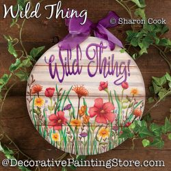 Wild Thing (wild flowers) DOWNLOAD Painting Pattern - Sharon Cook