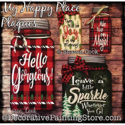 My Happy Place Plaques DOWNLOAD Painting Pattern - Sharon Cook