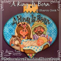 A King Is Born Painting Pattern PDF DOWNLOAD - Sharon Cook