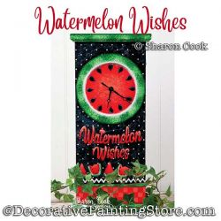 Watermelon Wishes Clock Painting Pattern PDF DOWNLOAD - Sharon Cook