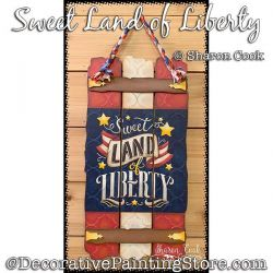 Sweet Land of Liberty Sign Painting Pattern PDF DOWNLOAD - Sharon Cook